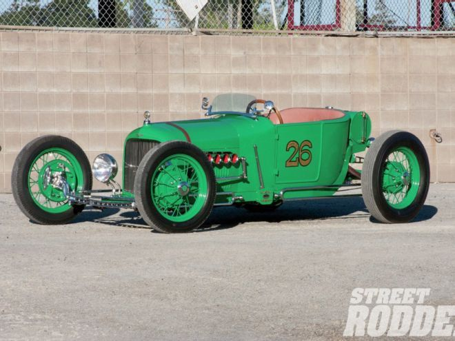 Ron Crawford's 1926 Ford Model T took over a decade to complete in a 1930s-style lakes modified roadster.