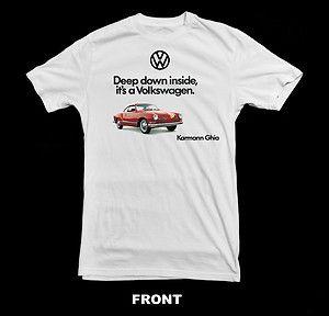 Black or white Karmann Ghia T-shirt