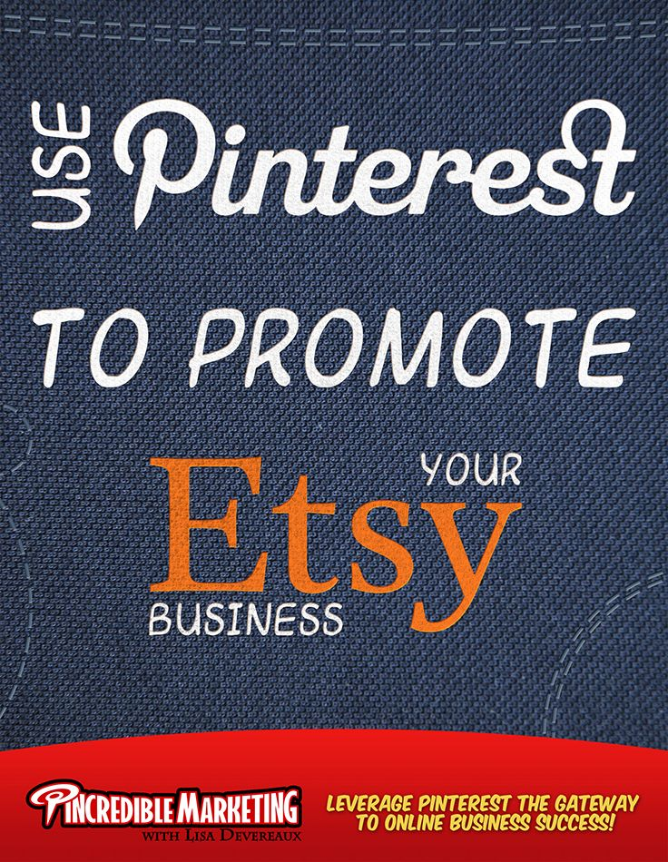 Pinterest for Etsy Use Pinterest to Promote Your Etsy Business.From exploring their interests and finding desired products to connecting with people with similar passions, millions of users use Pinterest every day to benefit from its interesting content. Owing to its fan base, Pinterest could be an ideal launching and marketing platform for your Etsy business. Have a look at a handful of our tips to effectively promote your Etsy Shop on Pinterest. Become a master at using Pinterest to drive…