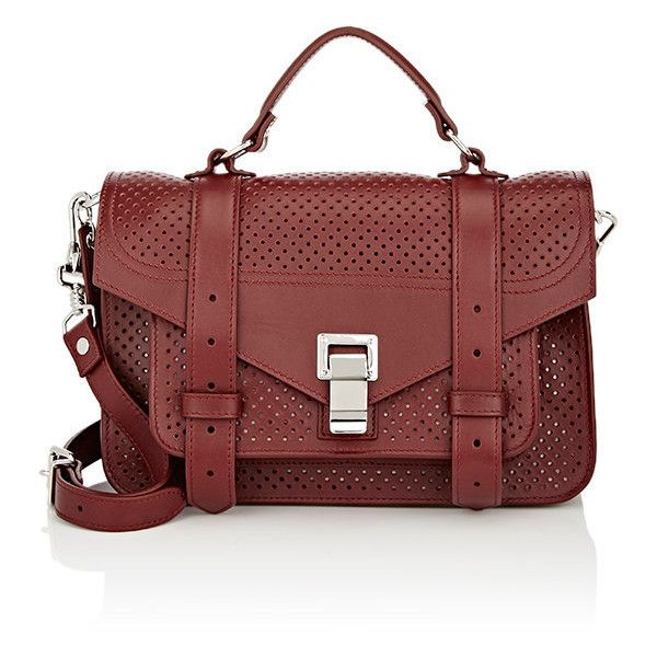 Proenza Schouler Women's PS1 Tiny Shoulder Bag (2,135 CAD) ❤ liked on Polyvore featuring bags, handbags, shoulder bags, purple, perforated handbags, polka dot handbag, purple shoulder bag, proenza schouler handbags and polka dot purse