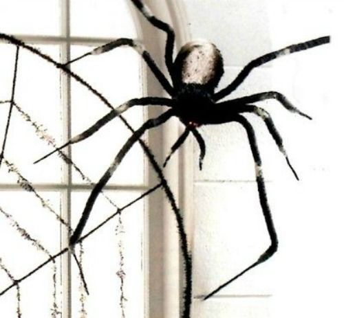 H3422477 Raz Imports Black Giant 24 Posable Polyester Spider New Halloween Wow Spider Halloween Spider Raz Imports