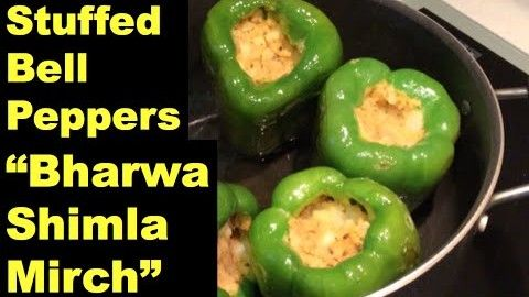 Stuffed Bell Peppers Capsicum Bharwa Shimla Mirch Indian Vegetarian Recipes How To Stuffed Peppers Vegetarian Recipes Indian Food Recipes Vegetarian