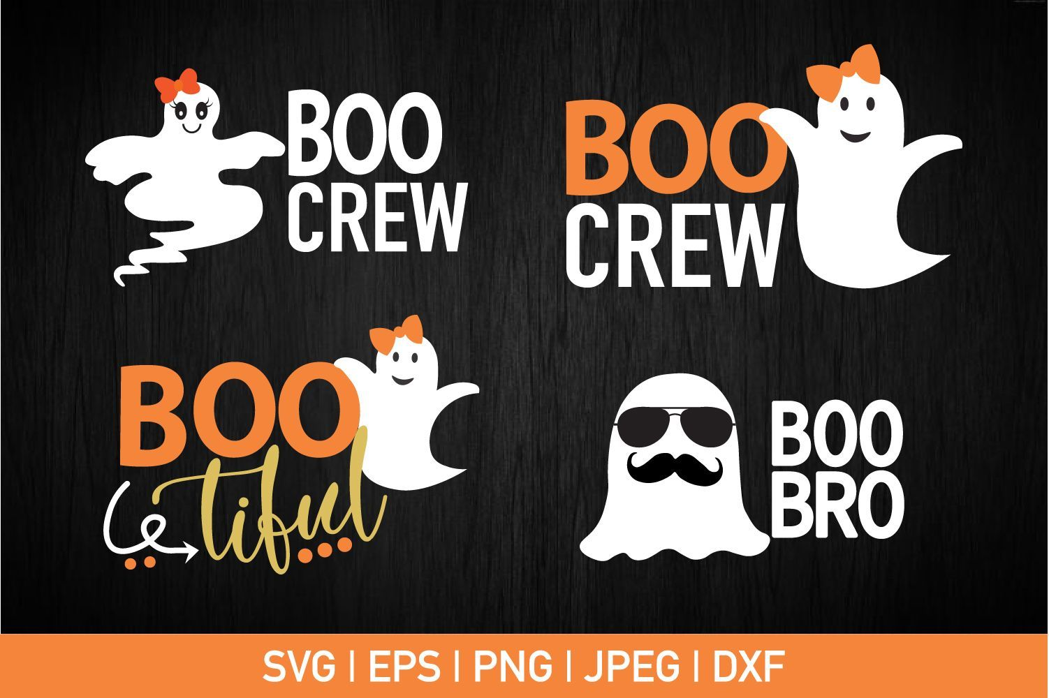 Ghost Bundle Boo Crew Boo Bro Boo Tiful #programingsoftware Can be used with the Silhouette cutting machines, Cricut, or other program/software that accept these files. Perfect for creating vinyl... #programingsoftware