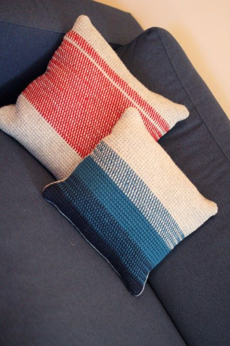 Tunisian stitch Pillow pattern