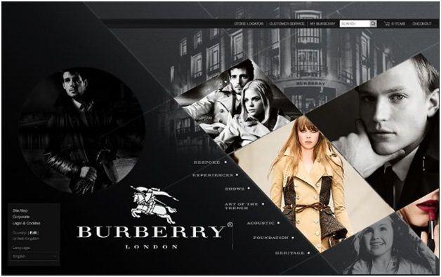 Burberry revamped website