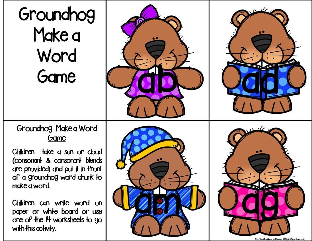 Groundhog Literacy Centers And Games For K 2nd Special
