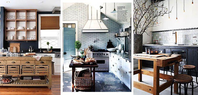 Islas rústicas de madera, carácter en tu cocina | Isla de cocina ...