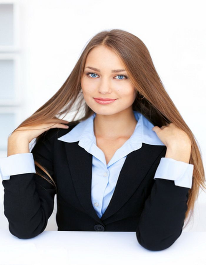 Long Hair Hairstyles For Business Women Professional Long Hair