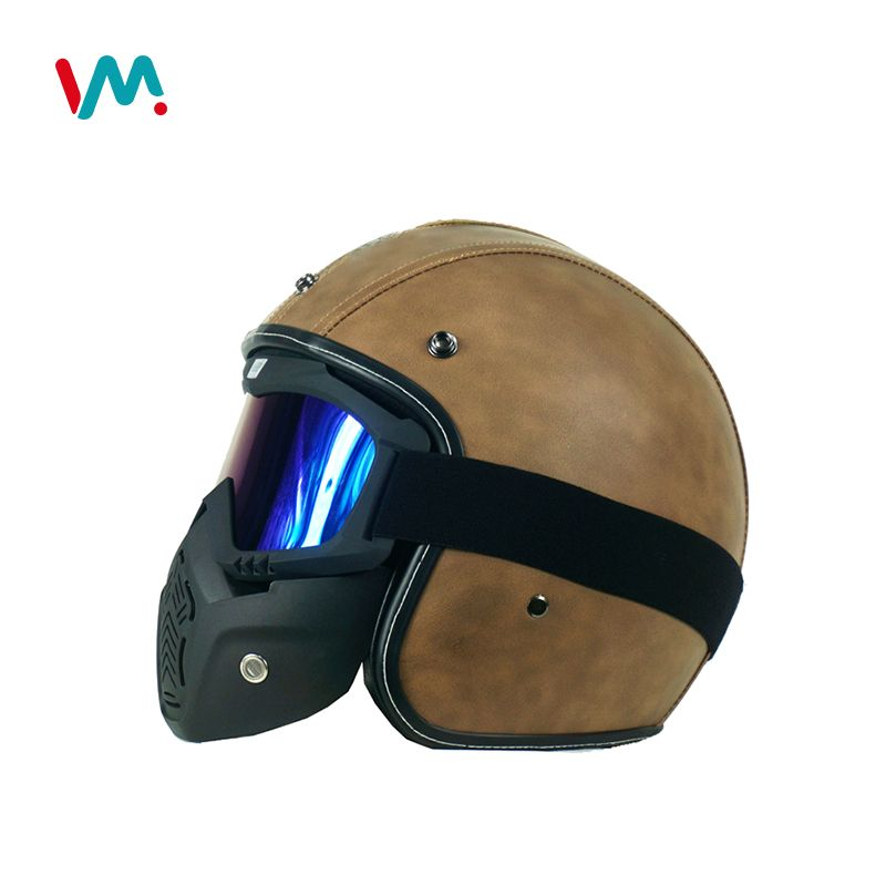 Hand Made Full Face Leather Vintage Motorcycle Helmet For Adults View Full Face Helmet With Visor Factory We Mate Product Details From Hangzhou We Mate Trade Helmet Motorcycle Helmets Motorcycle Helmets Vintage