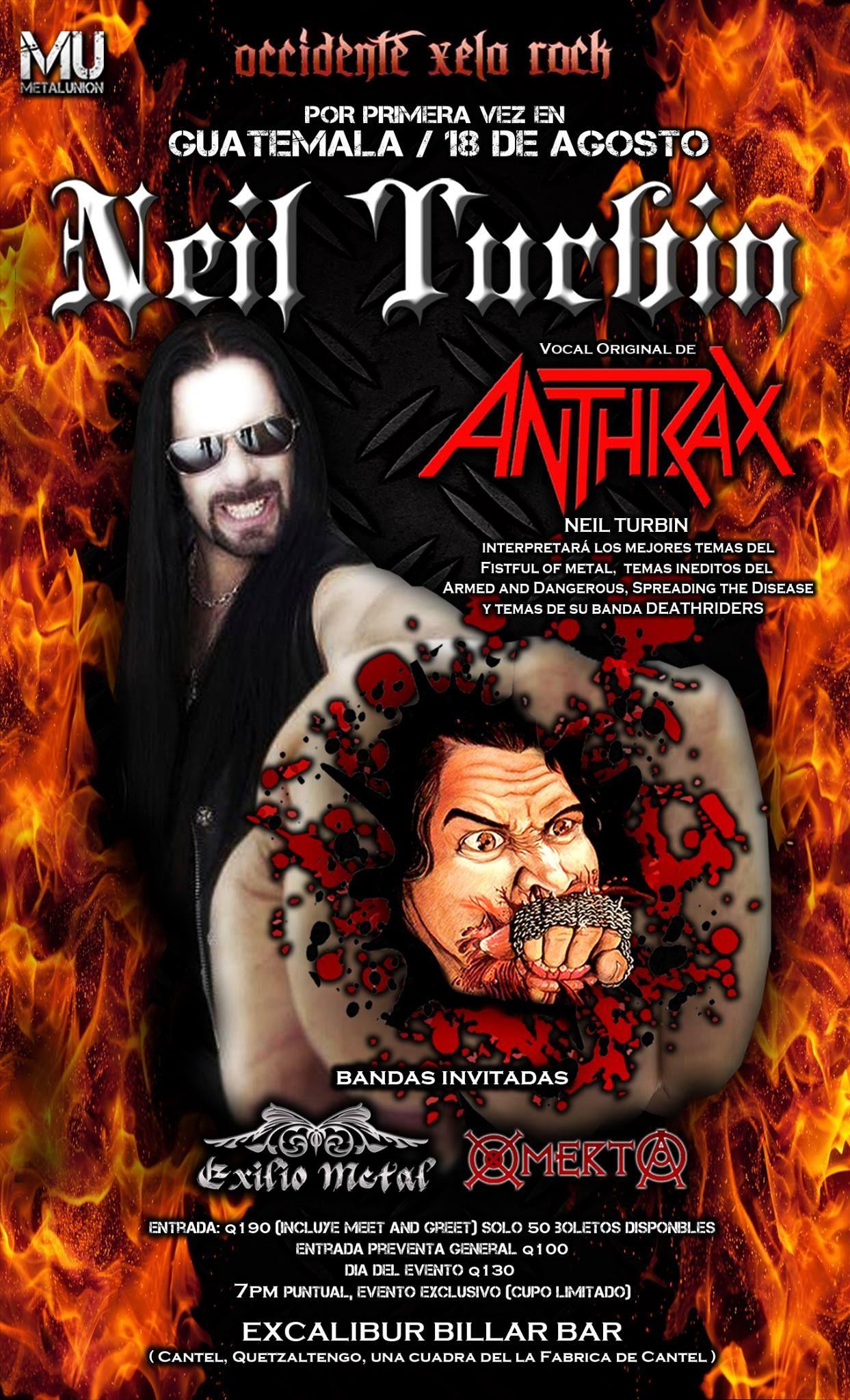 Neil Turbin The Metal Beast Is Back Tour Latin America