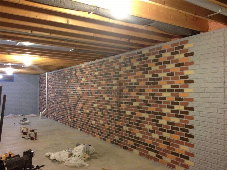 22 How To Basement Bathrooms Options 2020 In 2020 Concrete Basement Walls Faux Brick Walls Painting Basement Walls