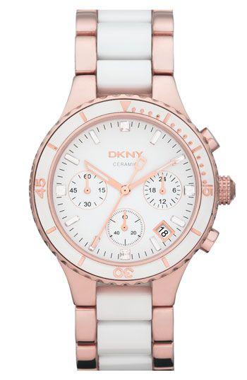 Dkny Round Ceramic Bracelet Watch 38mm Nordstrom Dkny Watch Womens Watches Fashion Watches