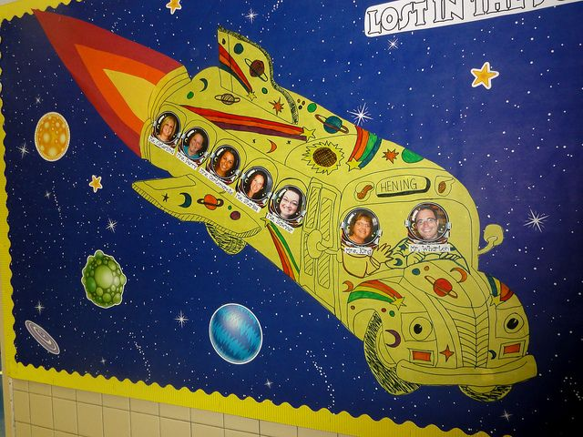 Magic School Bus Bulletin Board With Images Space Theme