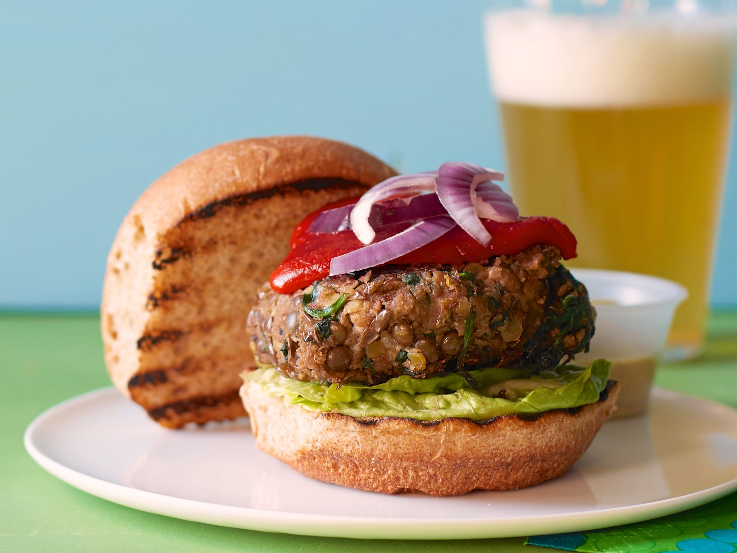 ... Lentil Burgers | Recipe | Brown lentils, Spinach and Lentil burgers