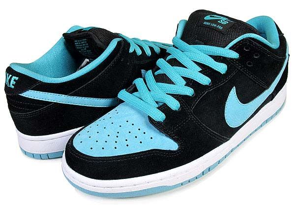 NIKE NIKE DUNK LOW PRO SB  BLACK CLEAR JADE  304292-030  18e1407427