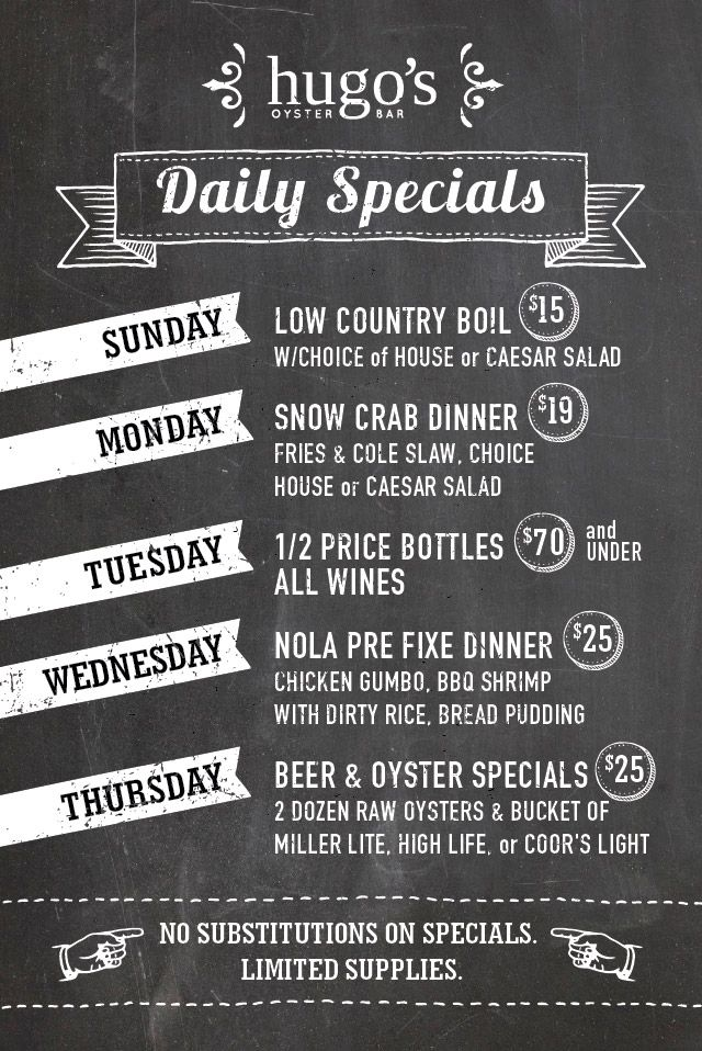 Hugos Weeklyspecials Web Daily Specials Oysters Daily
