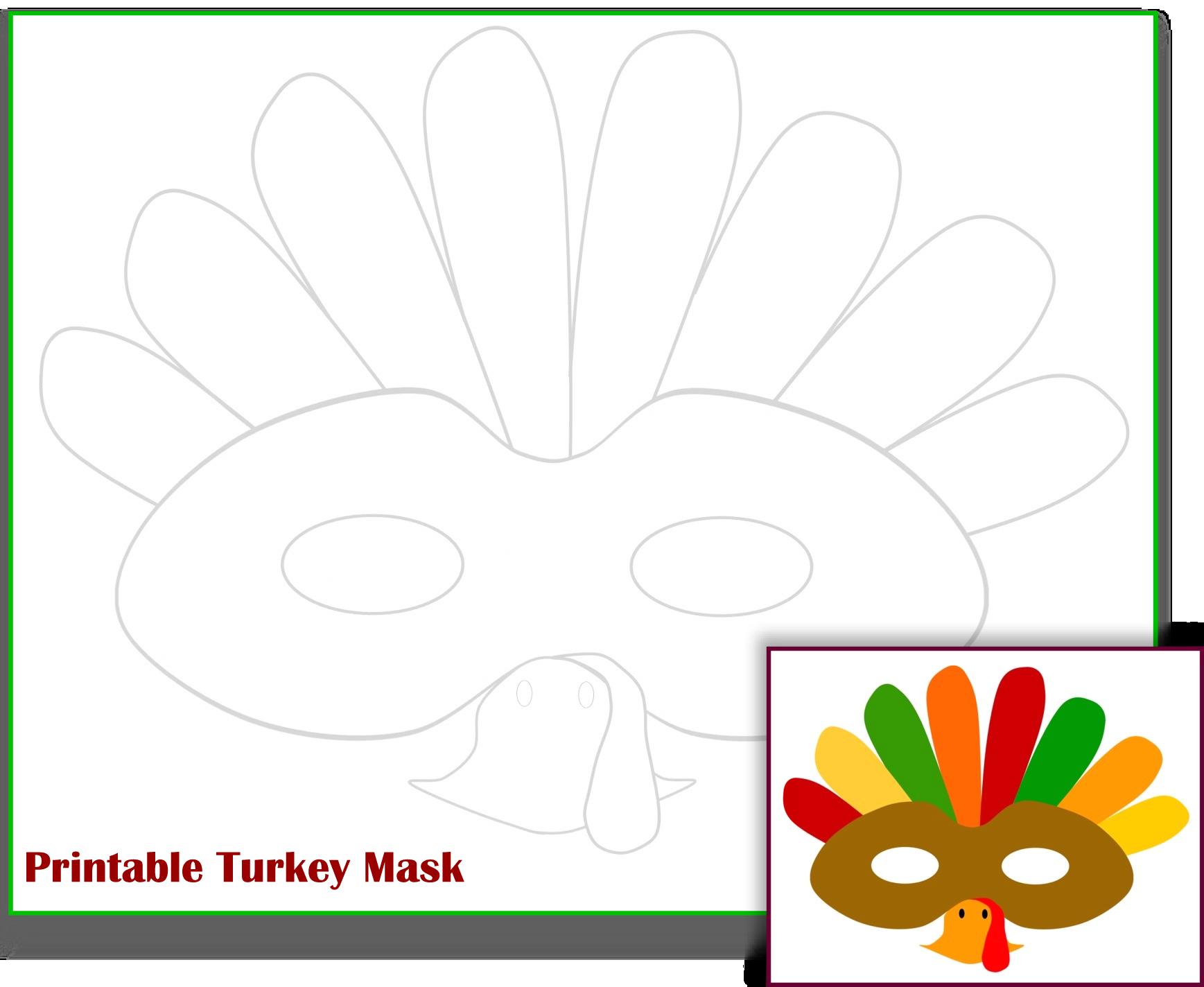 Free Printable Turkey Mask Template