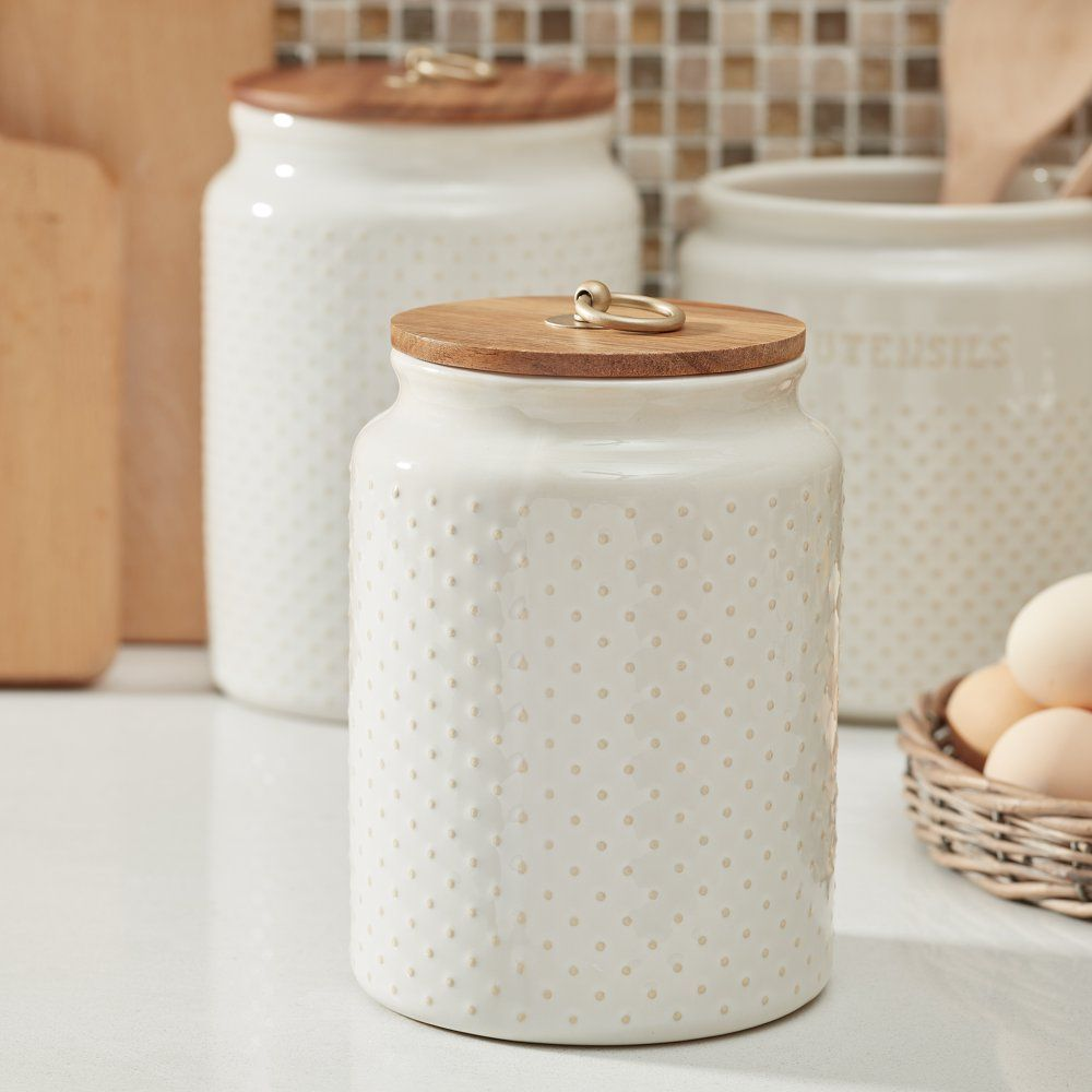 79910c534ebb30c9ff937f46e1cf4999 - Better Homes & Gardens Ceramic Hobnail Canister Small