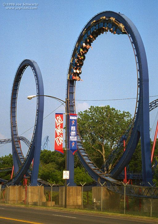 Shock Wave Six Flags Over Texas Six Flags Over Texas Roller Coaster Amusement Park Rides