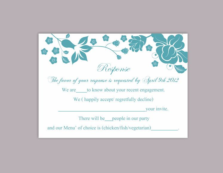 DIY Wedding RSVP Template Download Printable Wedding Editable Floral