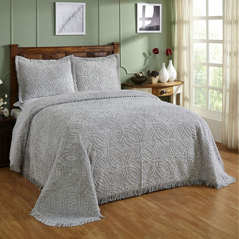 Better Trends Chenille Wedding Ring Bedspread Bed