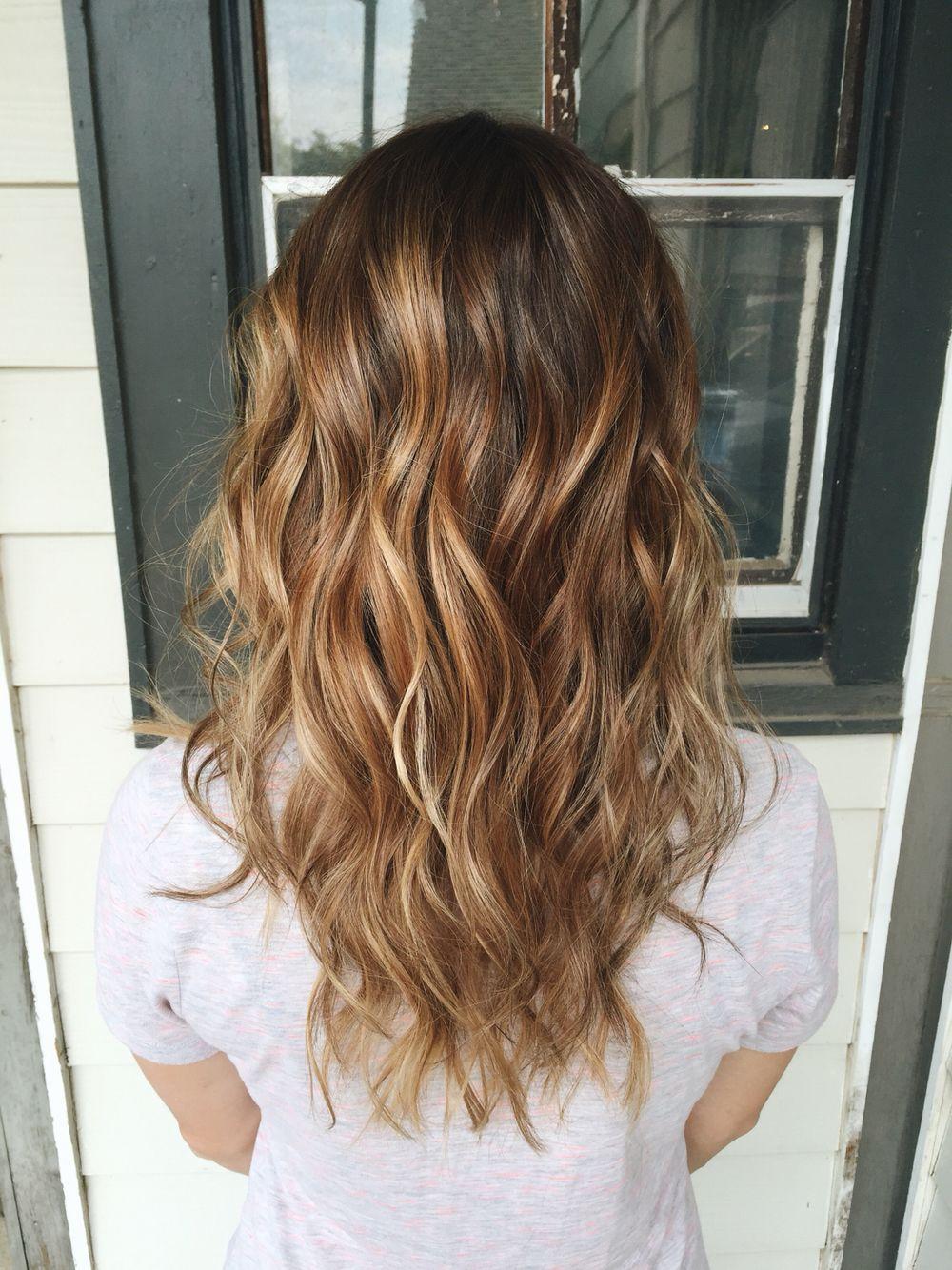 Golden Auburn Autumn Balayage Balayage Hair