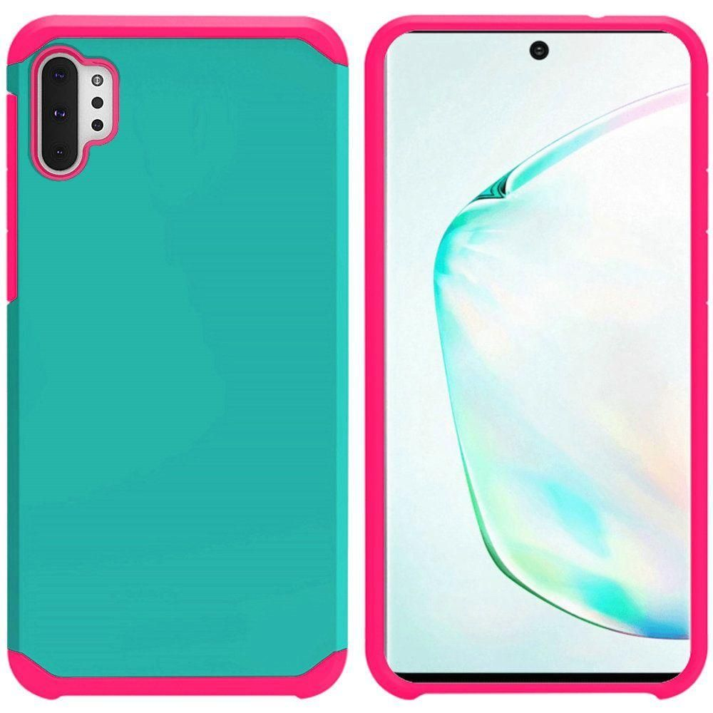 Slim Hybrid Rugged Case, Teal/Pink for Samsung Galaxy Note 10 Plus