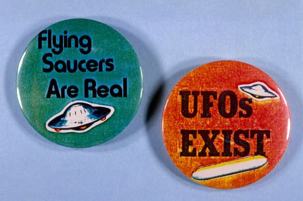Photo of Jigsaw Puzzle. Ufo Badges 20C. 1000 Piece Jigsaw Puzzle made to order in the UK