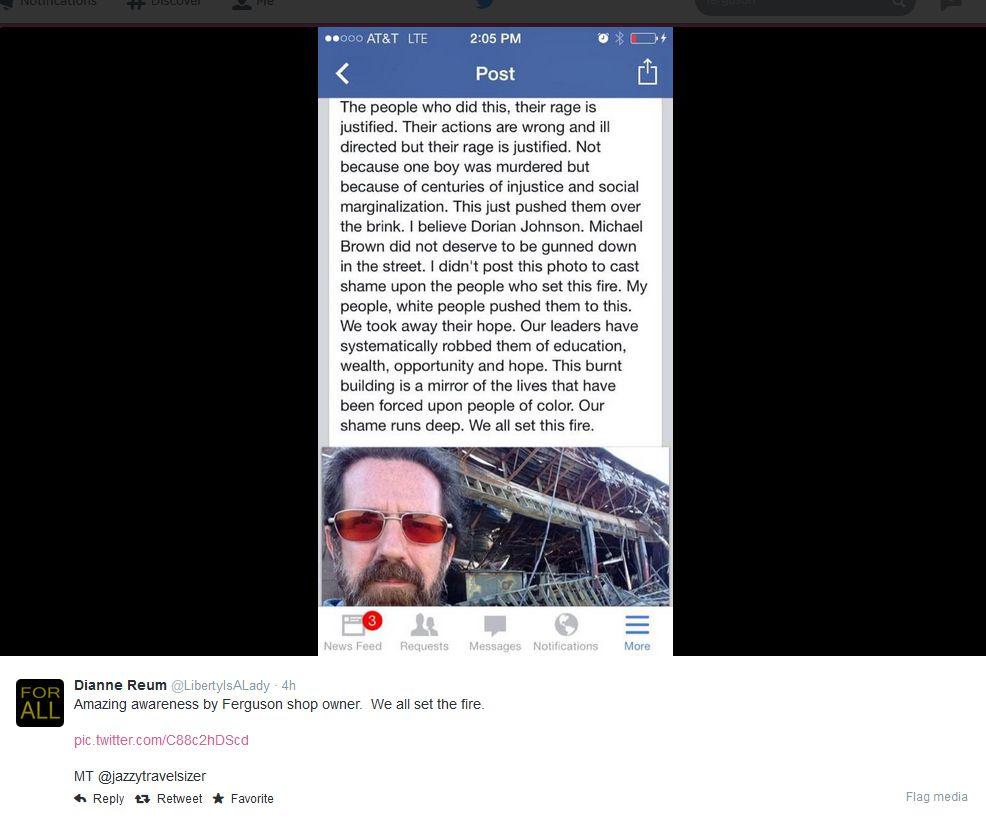 Tweet The Police Fatal Shooting Of Teenager Michael Brown On