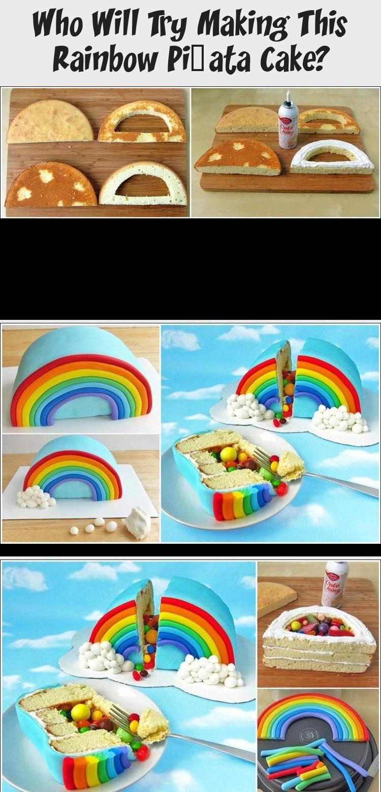 Photo of Wer wird versuchen, diesen Regenbogen-Piñata-Kuchen herzustellen? #PinataKuchen…