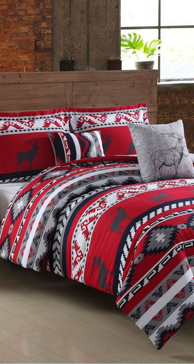 a cozy bed set that boasts rustic appeal | ruff hewn ski lodge