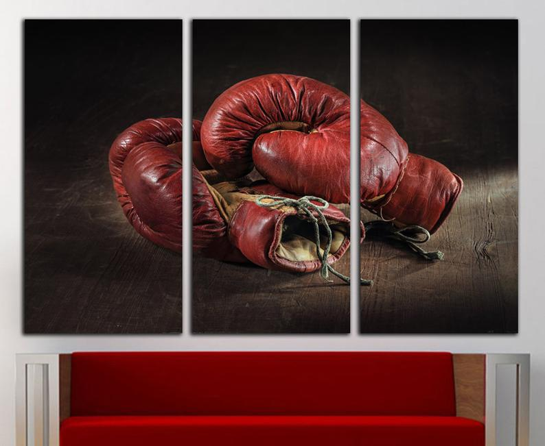 Boxing Print Boxing Canvas Boxing Wall Art Boxing Wall Decor Etsy Sports Wall Decor Sports Wall Art Large Canvas Prints