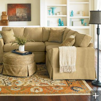 Best Straw Colored Comfy Sofa Or Sectional Small Sectional 400 x 300