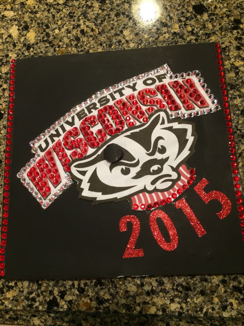 Graduation Cap-UW Madison | College | Pinterest | Cap, Grad cap and ...