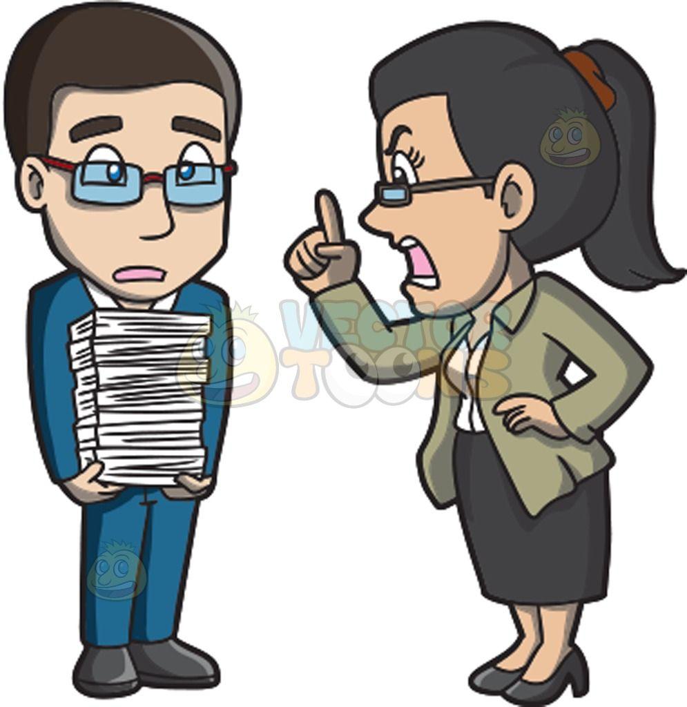 A Female Boss Yelling At A Male Employee | Female boss