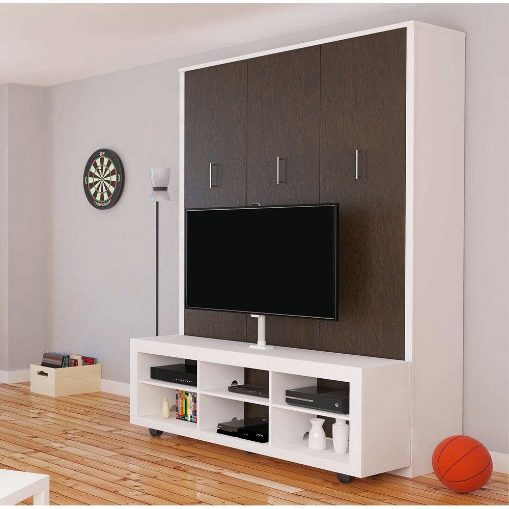 Electric Murphy Bed Aliance Murphy Bed With Tv Stand In American Oak By Manhattan
