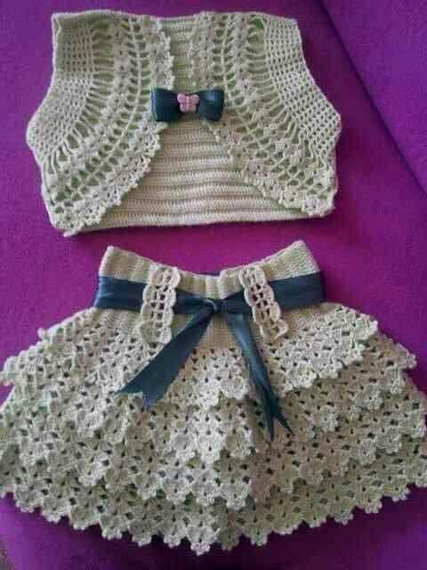 Muy Bonito Vestidos Para Beb 233 De Ganchillo