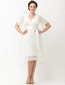 lace confection wedding dress by kiyonna | fashionista me