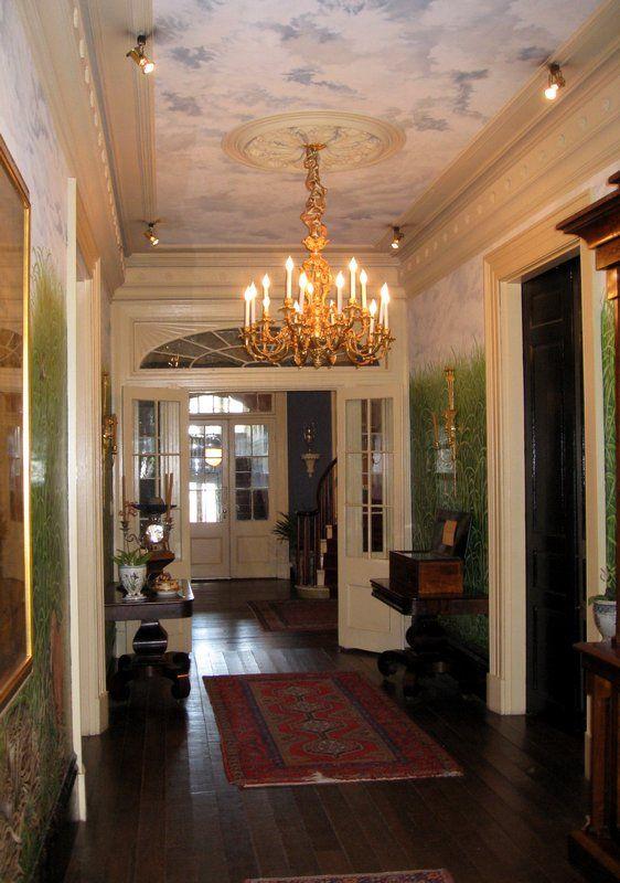 Houmas House Plantation   Main House   Interior   Entrance Hallway .