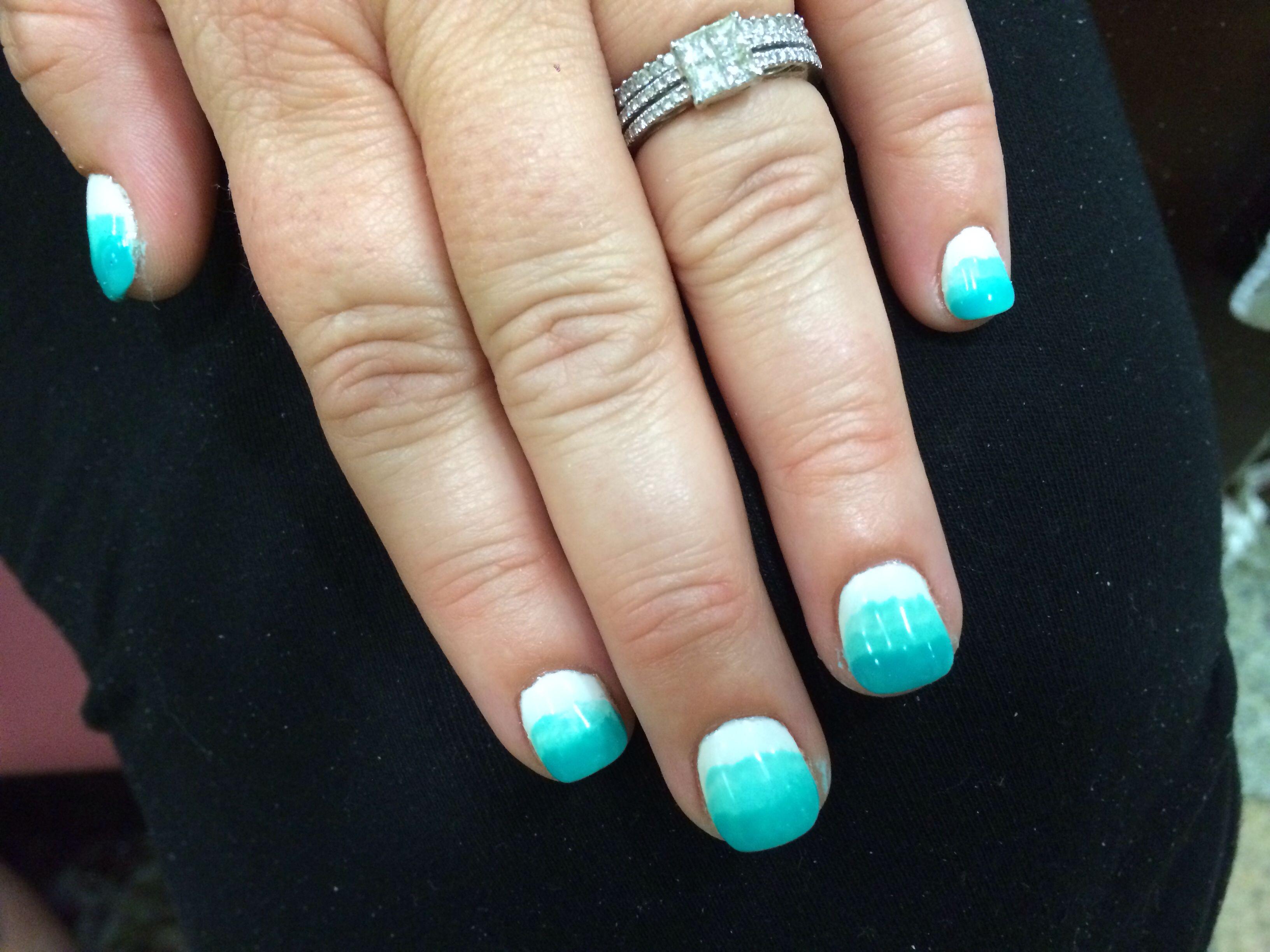 Blue gel acrylic nails #nailart #gelnails #acrylicnails #nailart ...