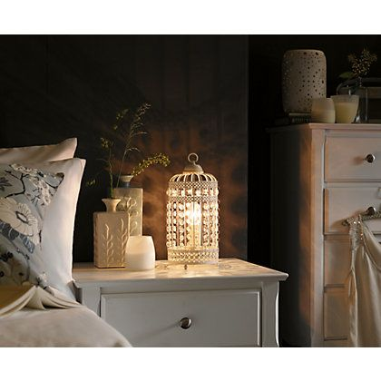 Bird cage table lamp cream fashion for the home pinterest bird cage table lamp cream aloadofball Image collections