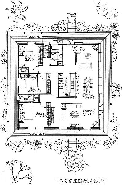 Queenslander style house floor plans house design plans for Queenslander floor plans