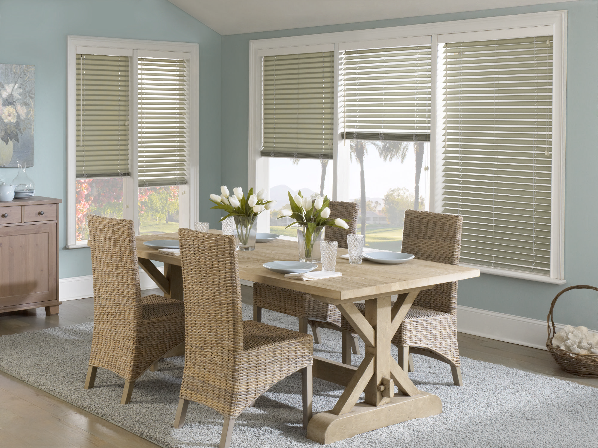 Dining Room Window Blinds Muranos Updated With A Standard Wood Valance Signature Murano