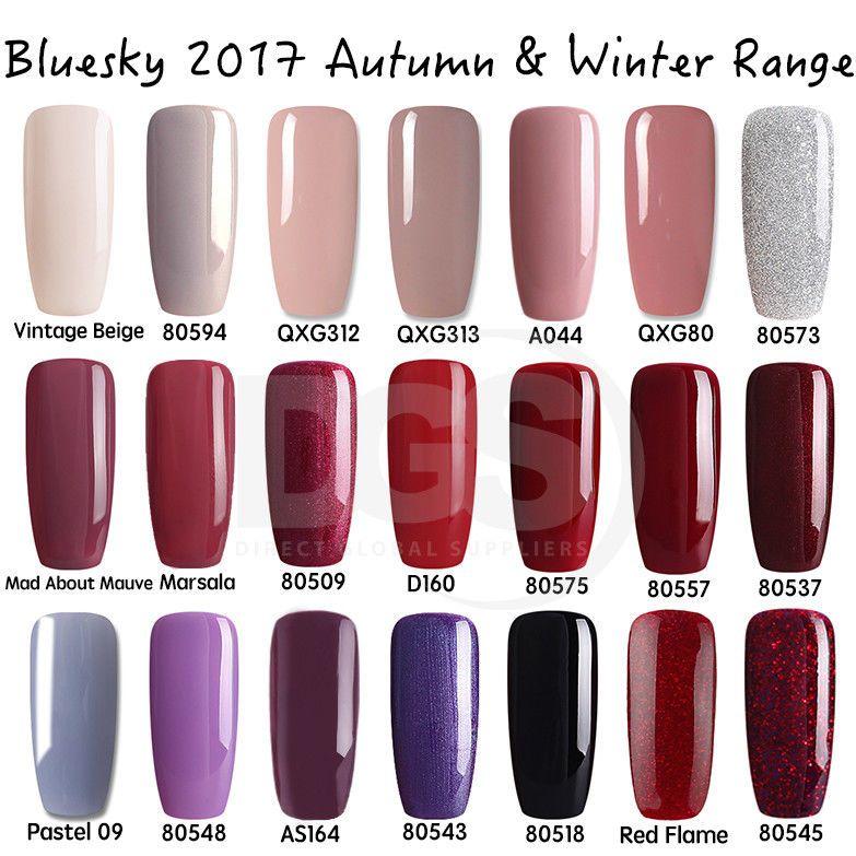 Bluesky AUTUMN WINTER Range UV/LED Soak Off Gel Nail Polish 10ml ...