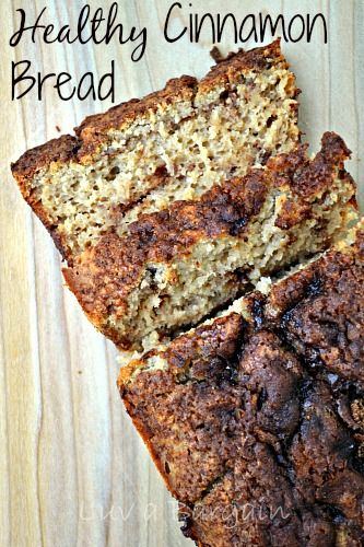 Healthy Cinnamon Bread - Clean Eating Recipe that is great for breakfast or a snack.