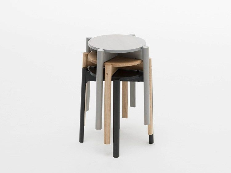 Stackable wooden stool CASTOR STOOL Castor Collection by Karimoku New Standard | design Big-Game & Stackable wooden stool CASTOR STOOL Castor Collection by Karimoku ... islam-shia.org