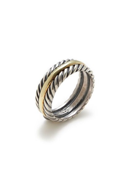 David Yurman Mens Two Tone Cable Band Ring By Estate Jewelry On Gilt