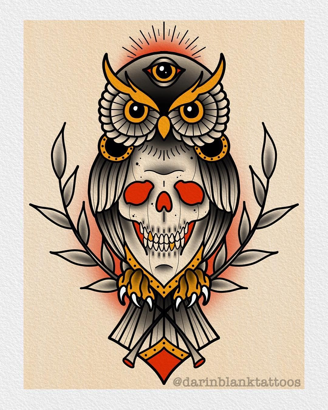 Tattoo Designs Up For Grabs: Skull Owl Design Up For Grabs! Darinblanktattoos@gmail.com