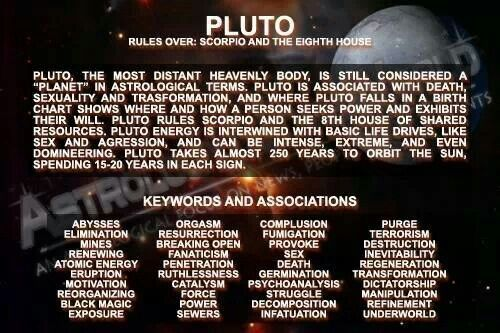 Scorpio's ruling planet Pluto     | All Scorpio, all the time