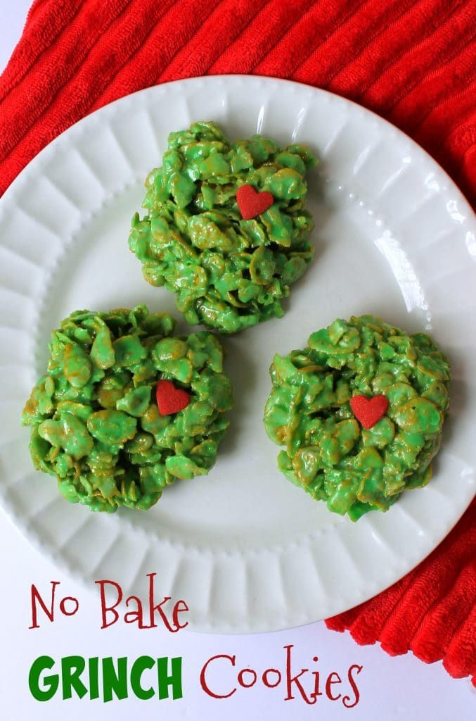 No Bake Grinch Cookies | Coffee With Us 3